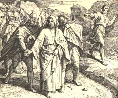 And He Cast Stones At David All The Servants Of King People Mighty Men Were On His Right Hand Left